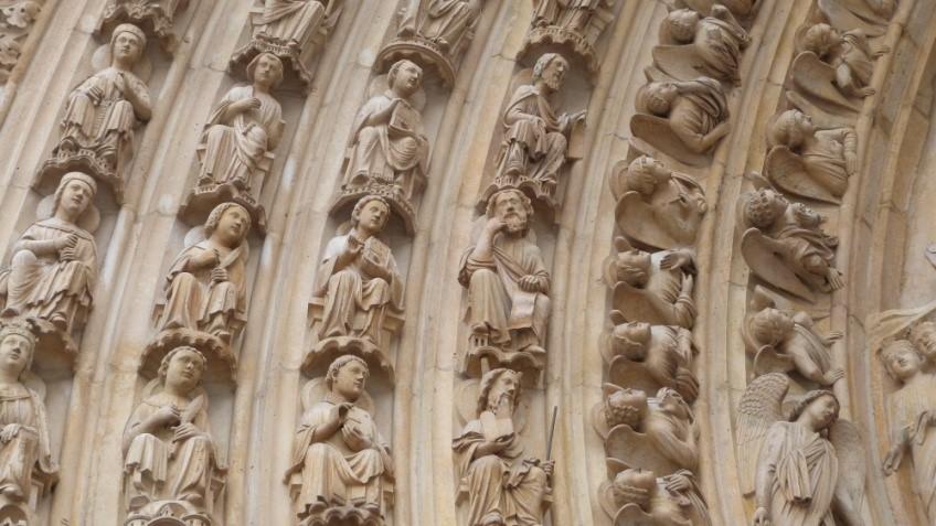 le portail du jugement dernier cathédrale notre dame de paris